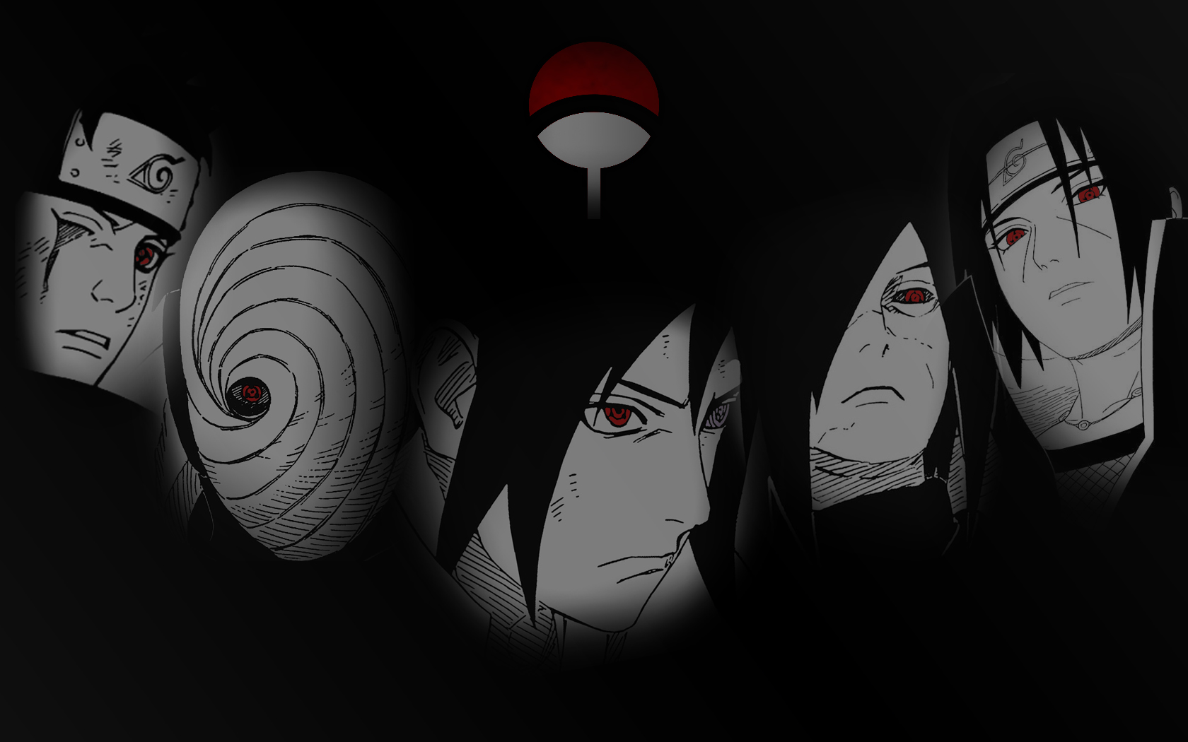 An Uchiha Clan Wallpaper I Made Naruto 1680x1050