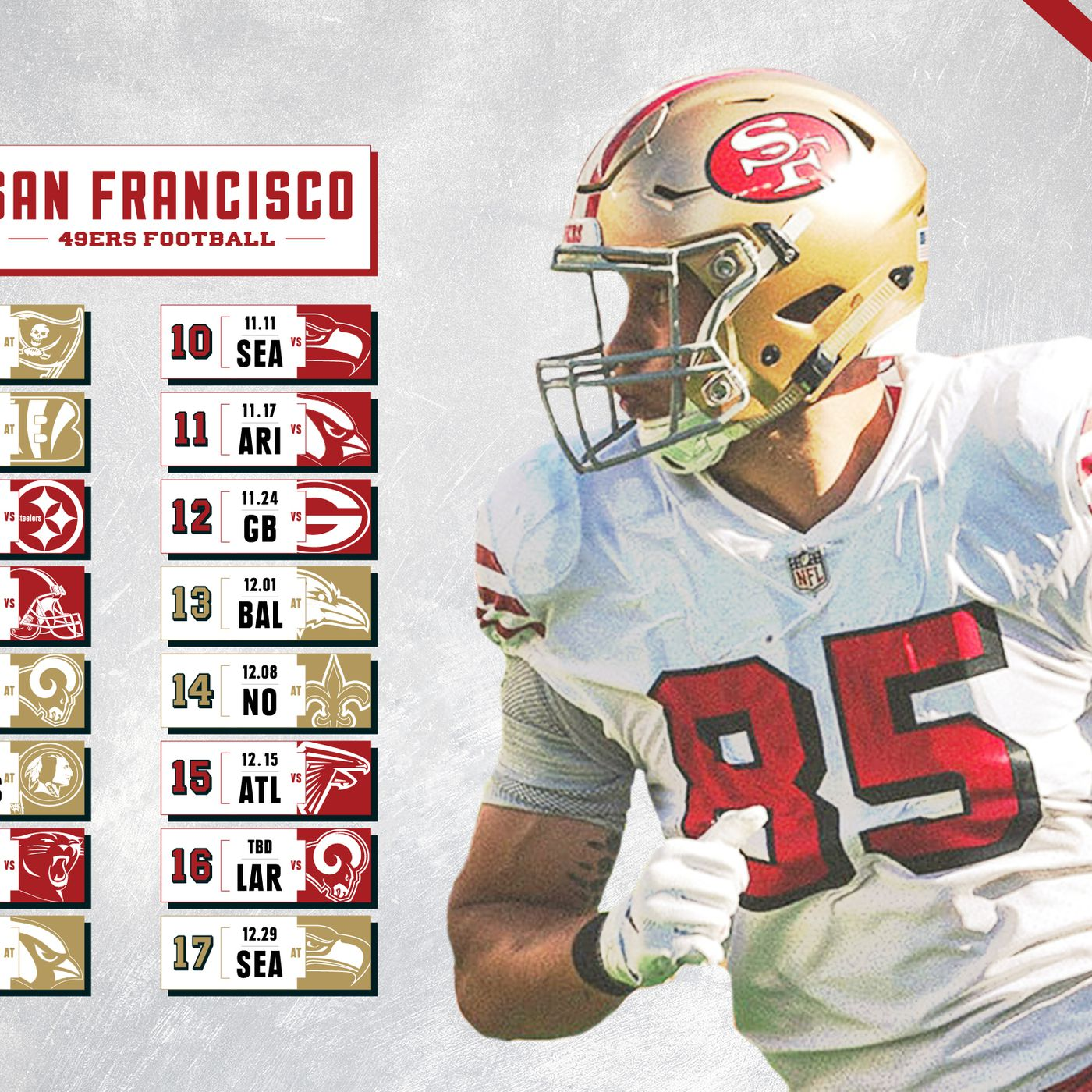 2019 49ers Schedule Wallpapers   Niners Nation 1400x1400