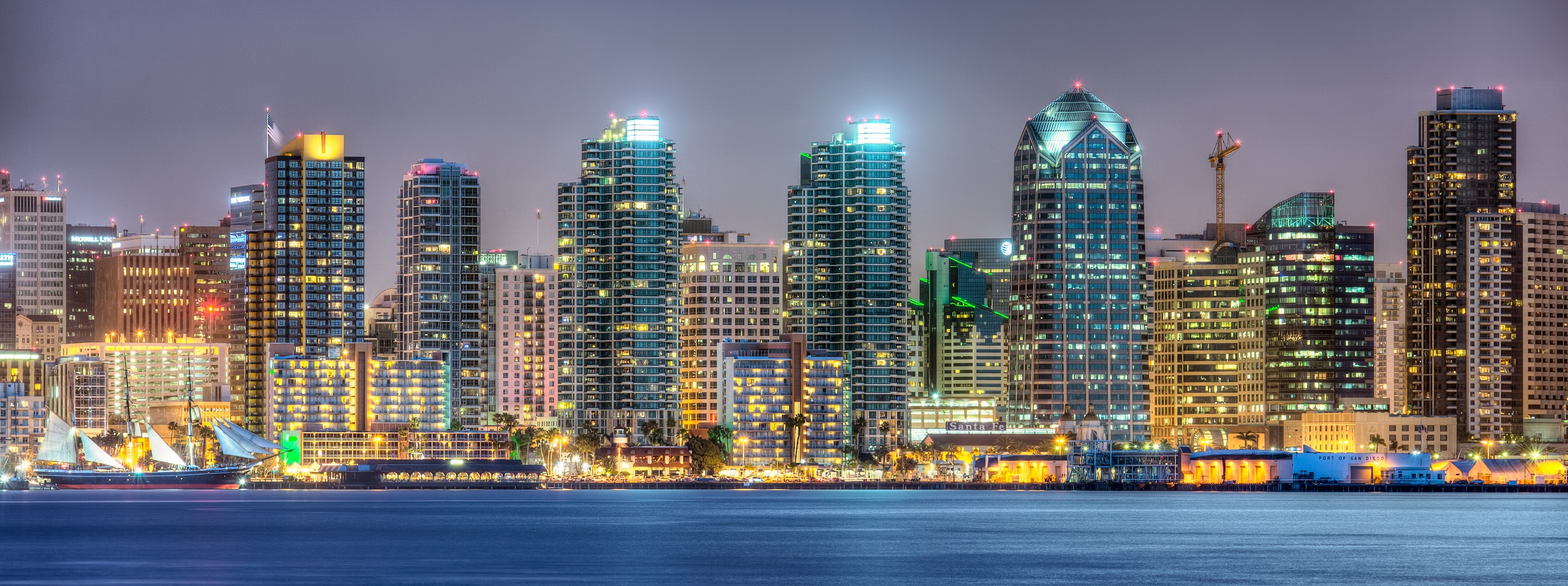 San Diego Skyline HD Wallpapers 2889x1080