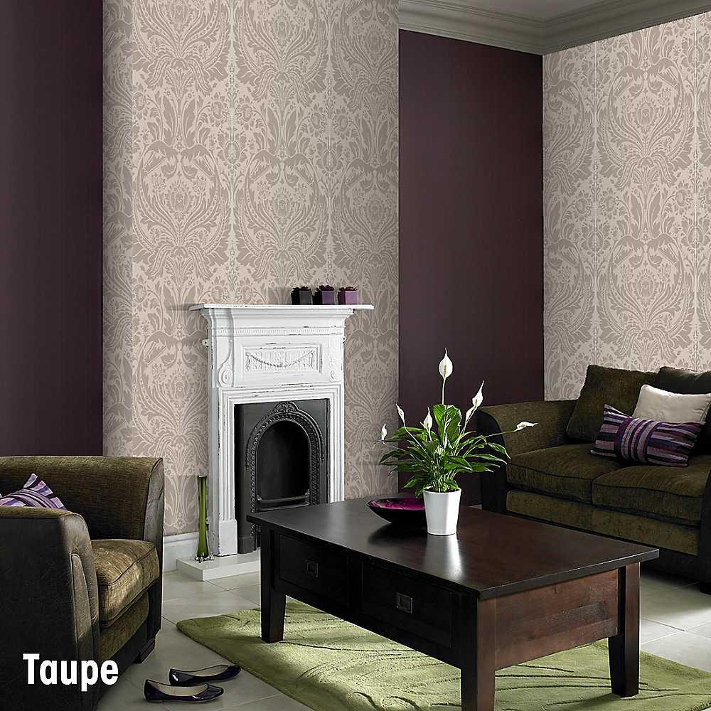 Graham Brown Desire Wallpaper   Taupe   Wallpaper   House Garden 1000x1000