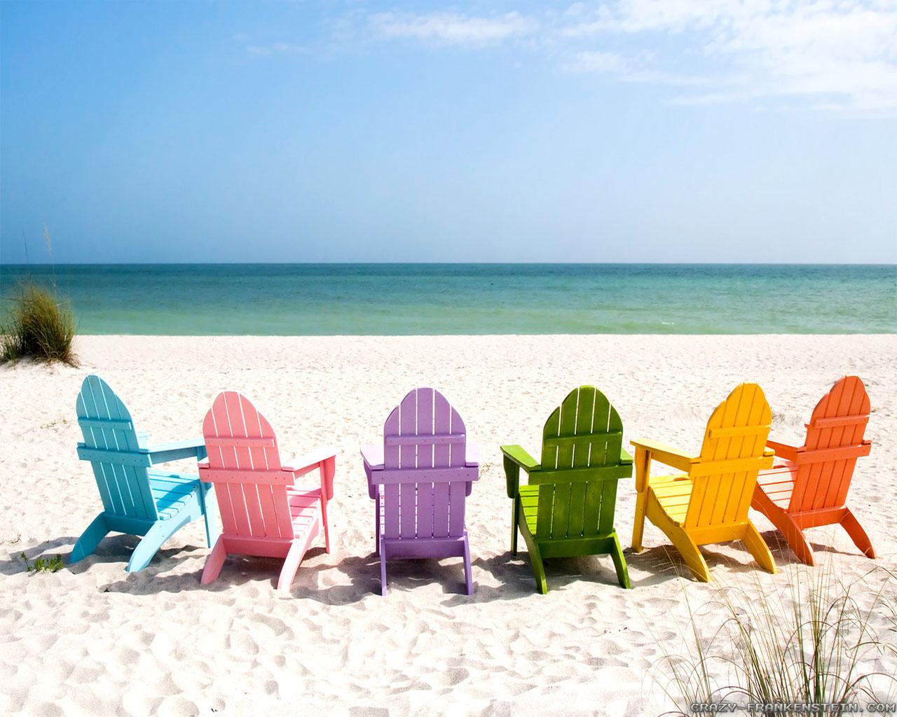 Summer Beach Chairs Desktop Wallpaper Wallpapersafari