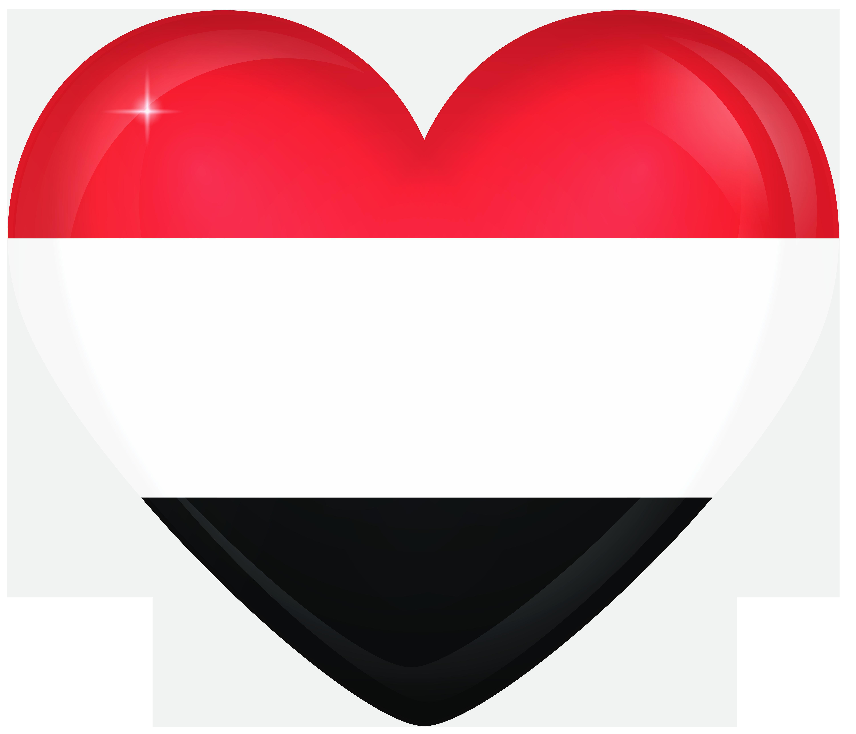 Yemen Large Heart Flag Gallery Yopriceville   High Quality 6000x5138