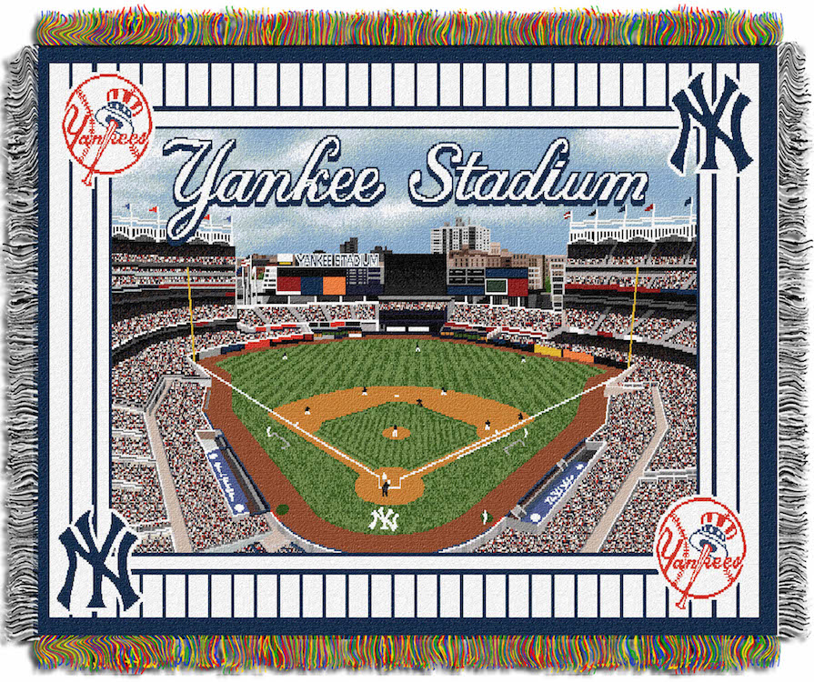 New York Yankees Stadium Tapestry Blanket 48 x 60   Buy at KHC Sports 895x750