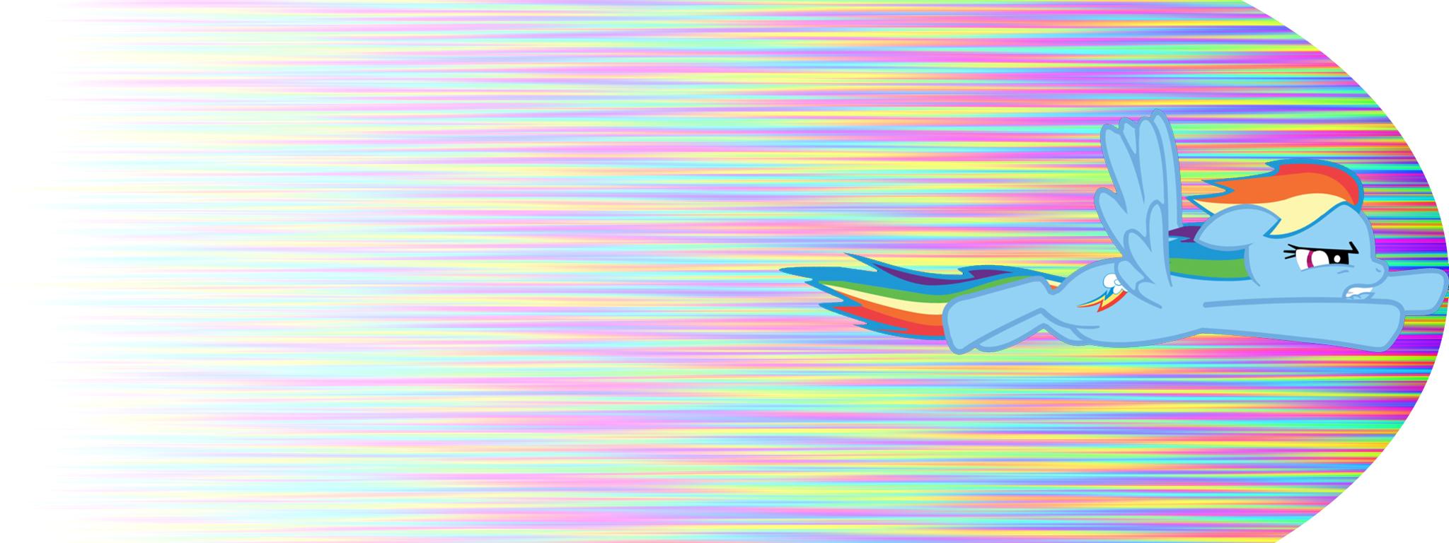rainbow dash duel screen wallpaper by lasarack fan art wallpaper 2048x768