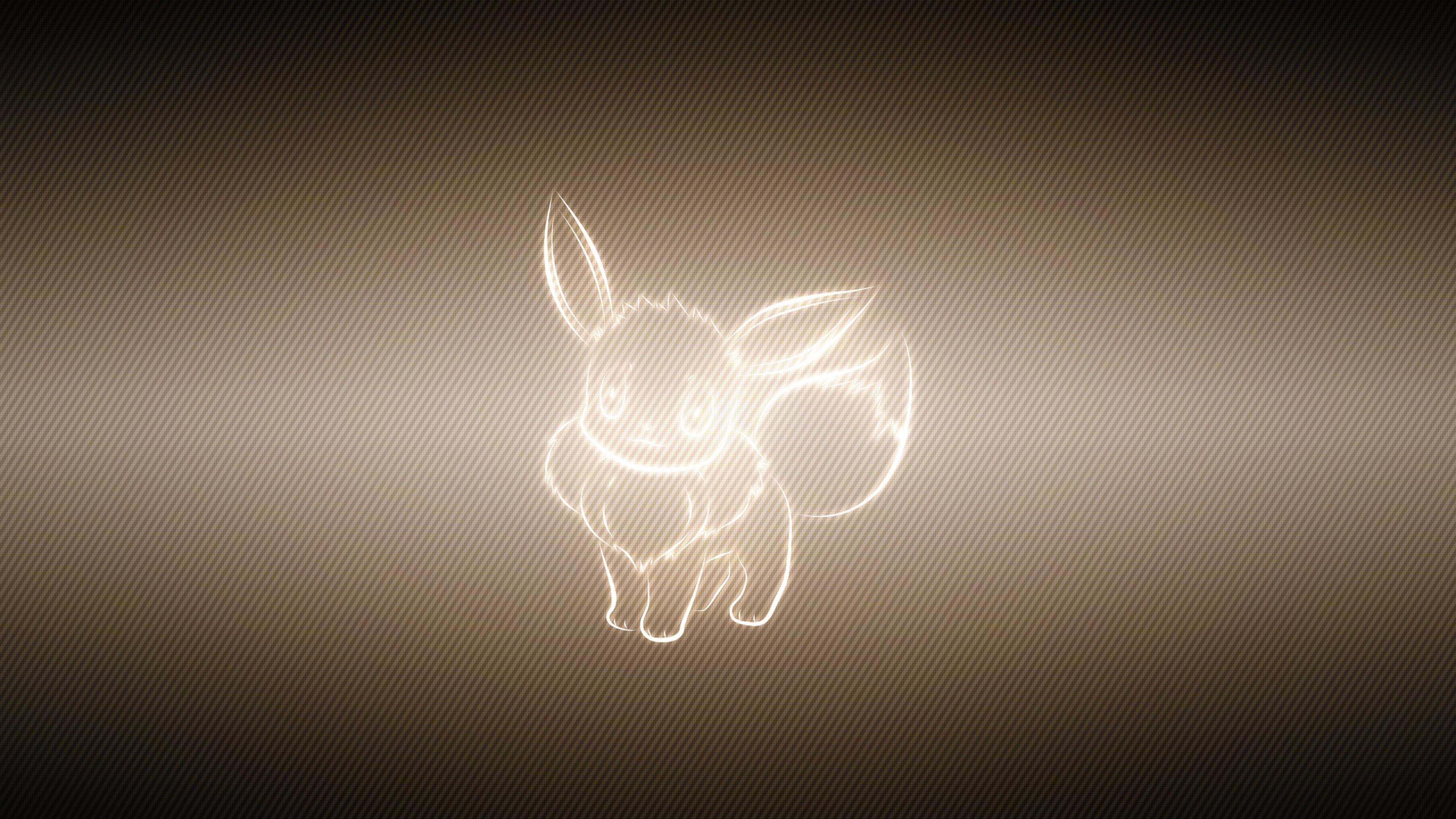 Download Wallpaper 3840x2160 animal pokemon eevee 4K Ultra HD HD 3840x2160