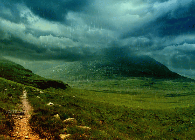 Storm Raining Animated Wallpaper 1142x821