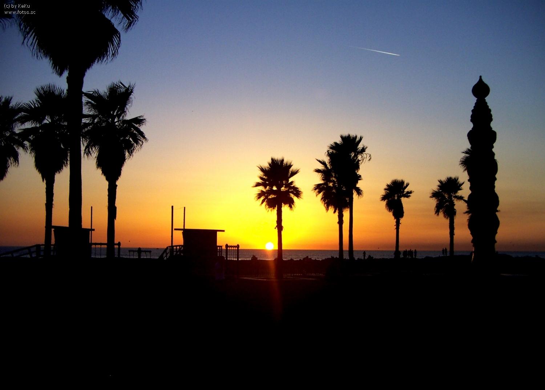 Sunset Sonnenuntergang Venice Beach California Kalifornien 1500x1073