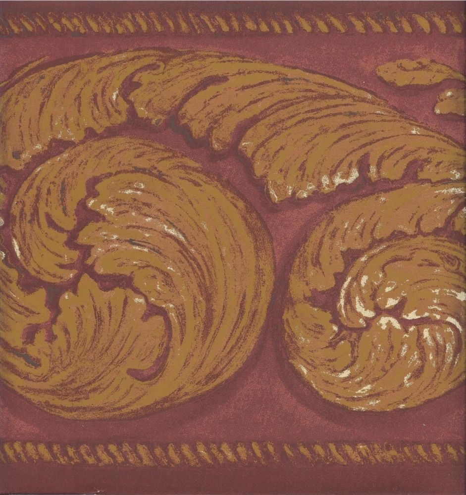 Free Download Wallpaper Border Gold Acanthus Scroll On