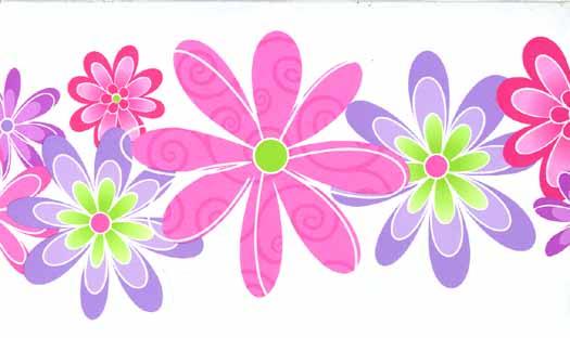 Purple Flower Wallpaper Border   Wallpaper Border Wallpaper inc 525x312
