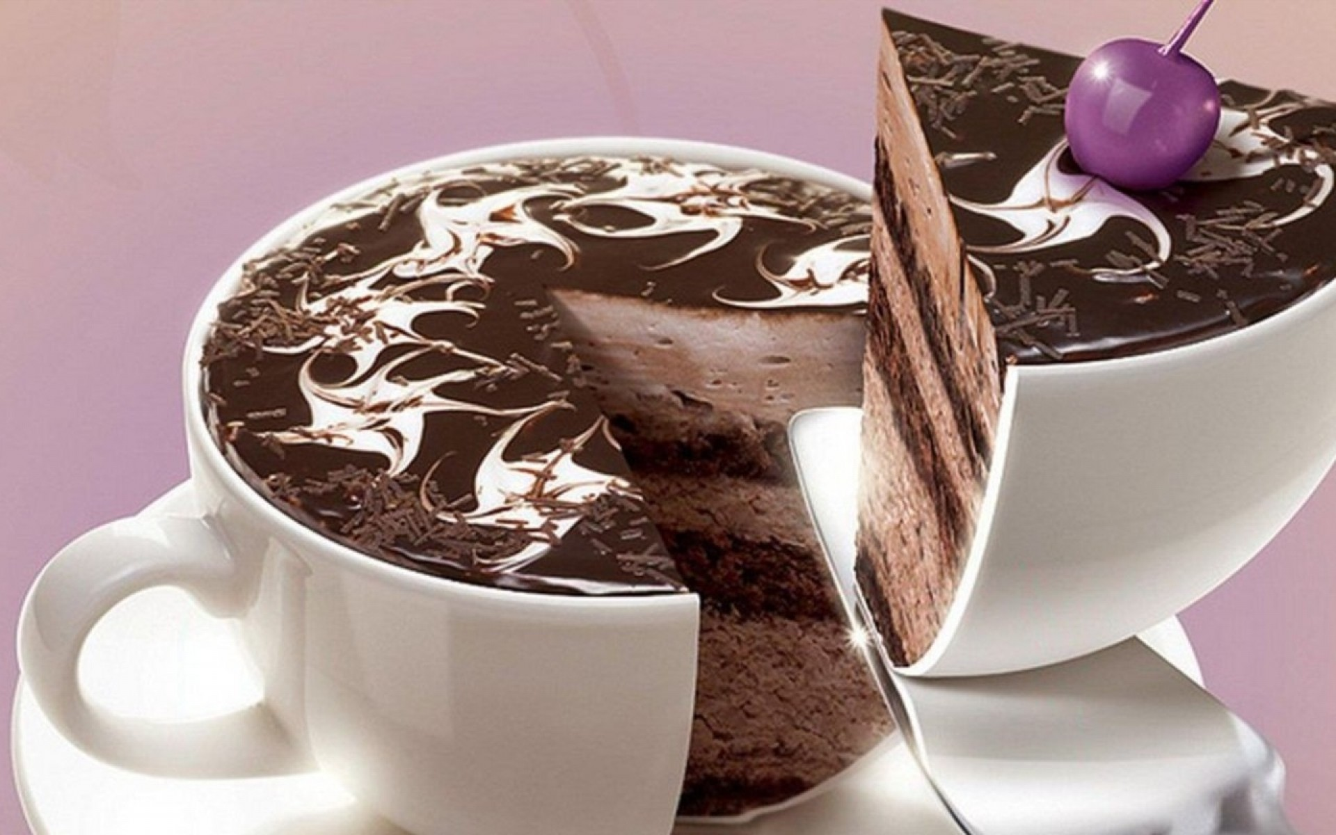 Home Food and Drink Chocolate Birthday Cake Desktop Wallpaper 1920x1200
