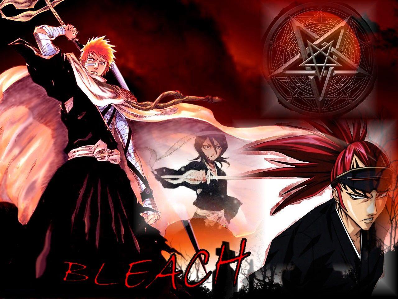 Ichigo Rukia Renji Bleach Wallpaper backgrounds Bleach 1280x960