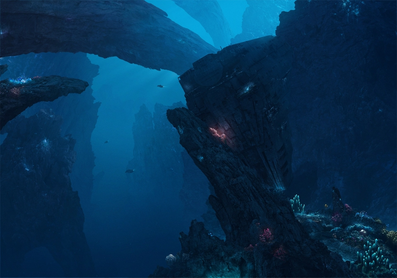 ocean sea city artistic atlantis deep deep sea deep blue 800x559