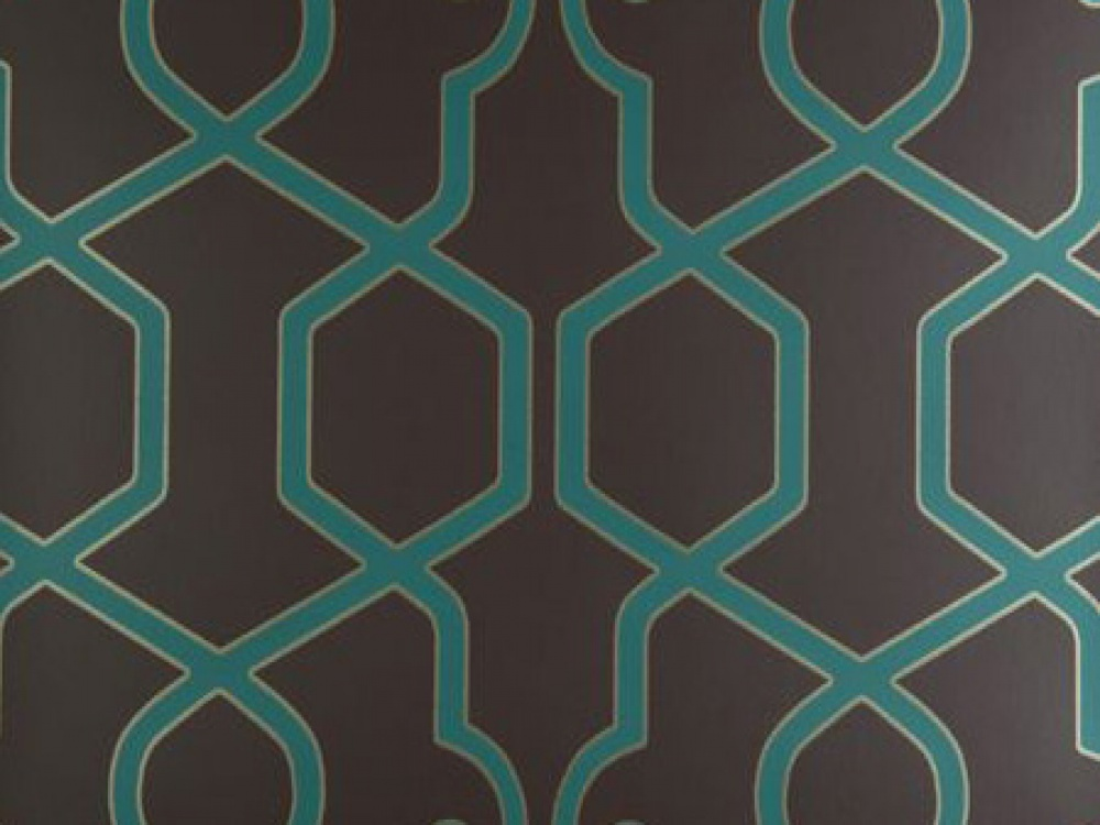 Teal And Brown Wallpaper The augustus teal geometric 1000x750