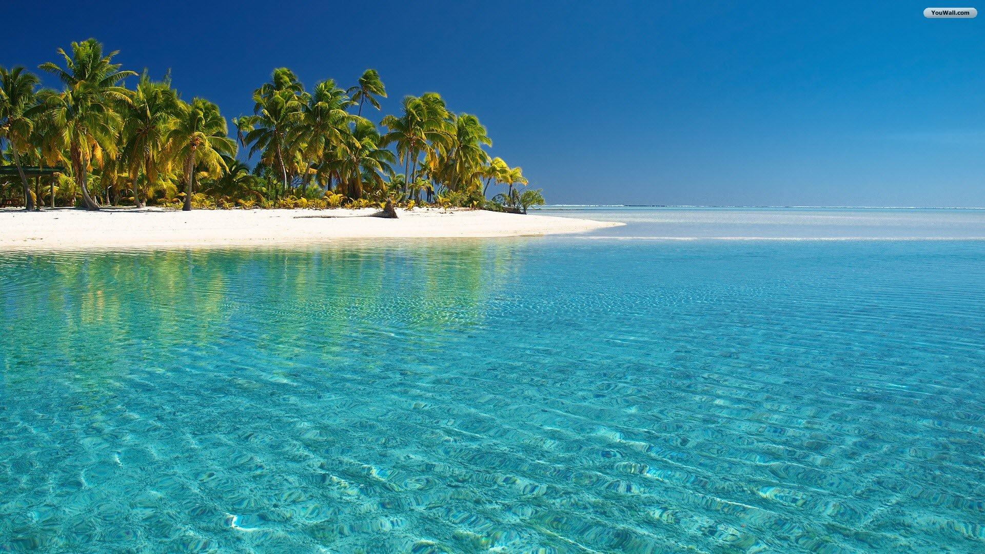 beach tropical wallpapers paradise island glass wallpaper water 1920x1080