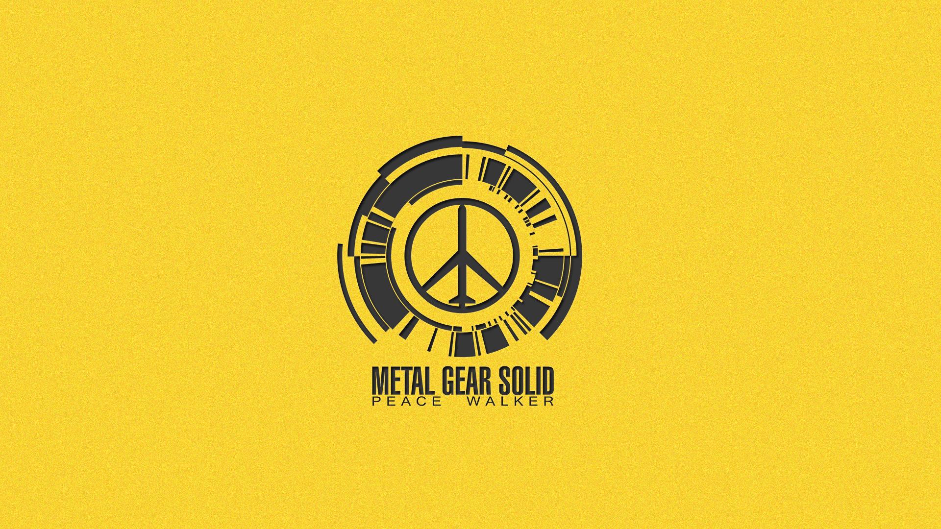 Mgs Peace Walker Logo Yellow By Zero O92 Customization Wallpaper Hdtv 1920x1080