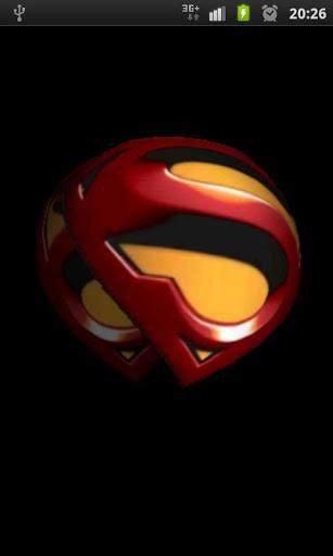 View bigger   Superman 3D Logo Wallpaper for Android screenshot 307x512