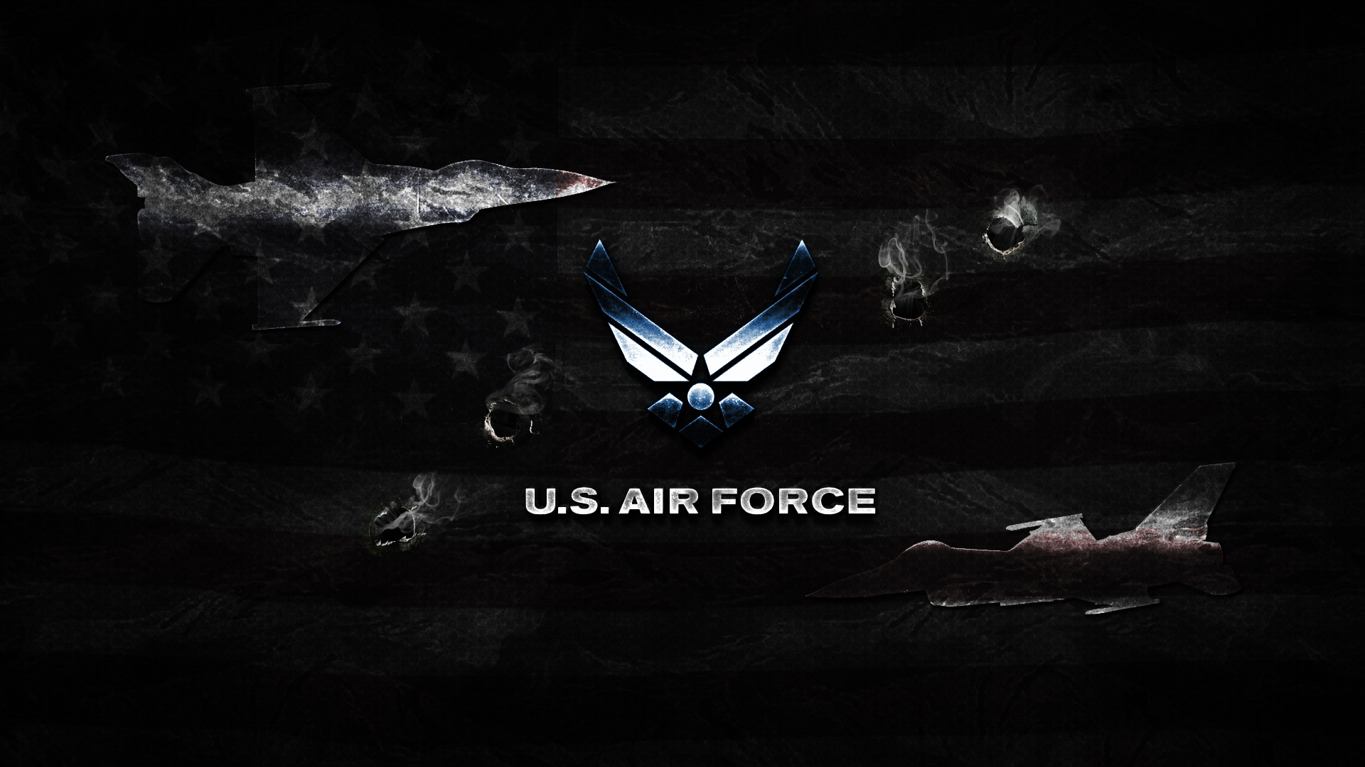 US Air Force logo wallpaper 19266 1920x1080