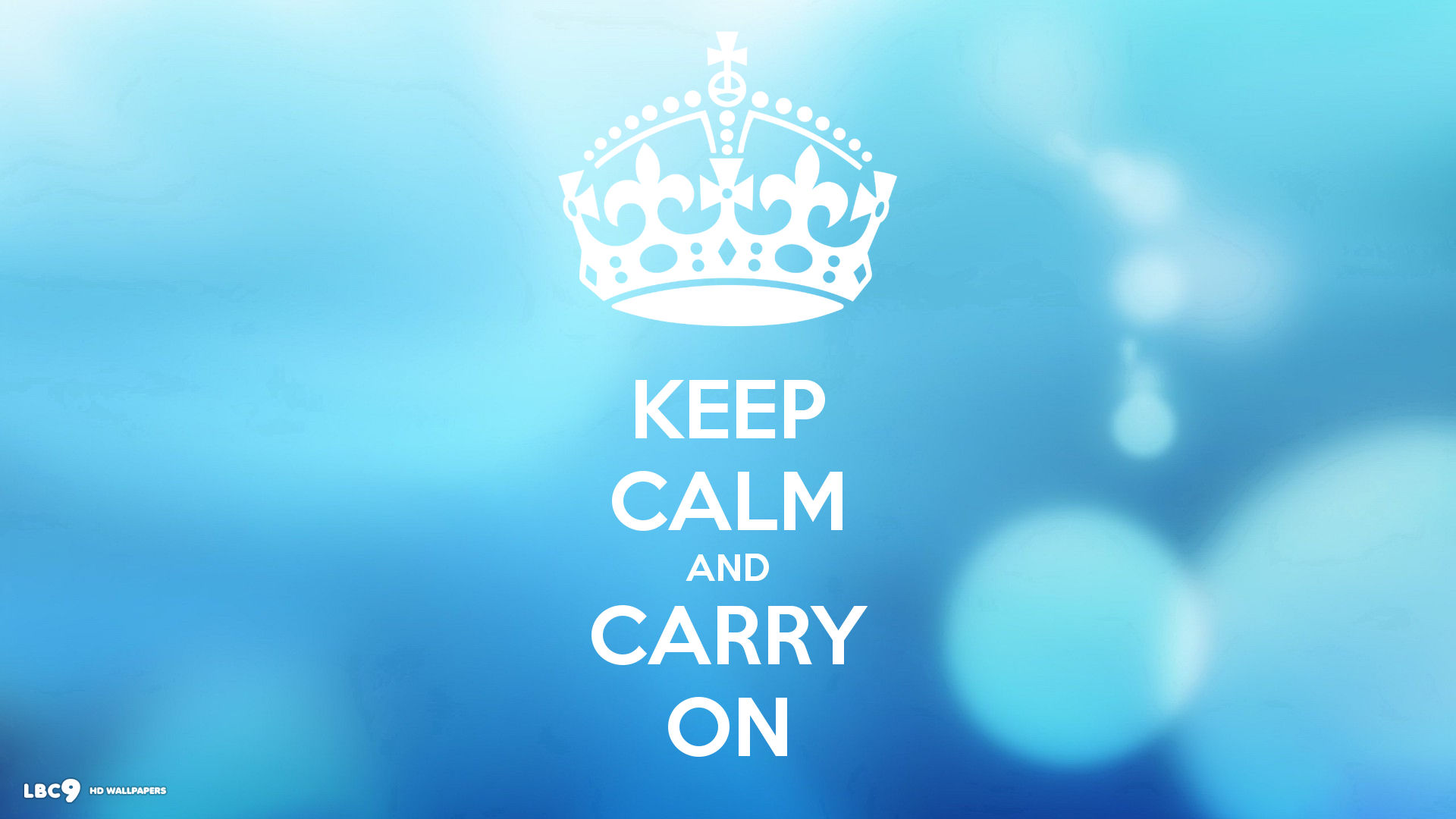 keep calm and carry on soft blue dots 1920x1080 1920x1080