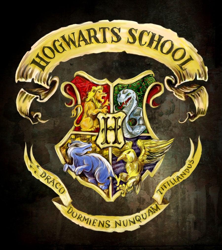 hogwarts logo wallpaper wallpapersafari