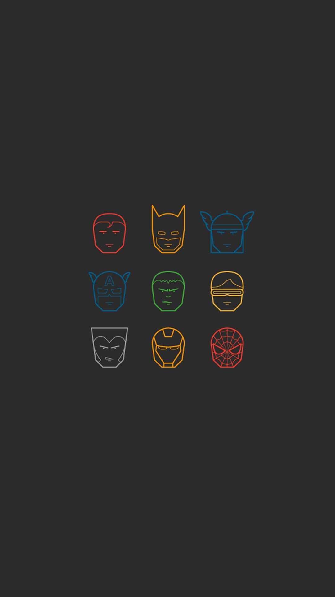 Simplistic Avengers iPhone Wallpapers   Top Simplistic 1080x1920