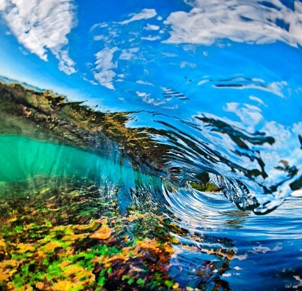 reef reflecting off of the water Photographer is Clark Little pics 595x573