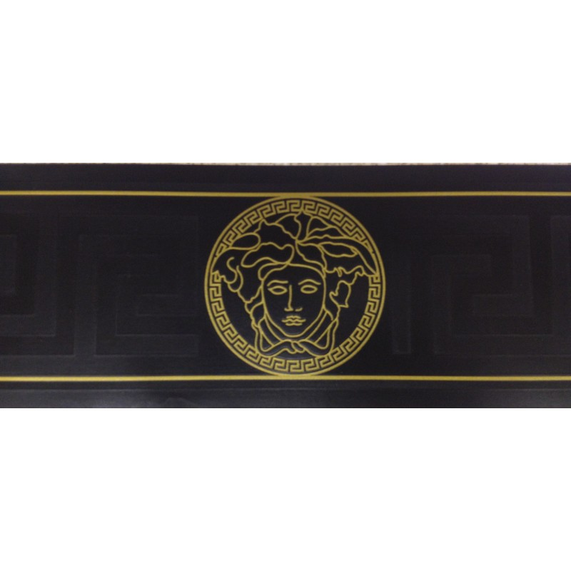Home Versace Home Greek Key Black and Gold Luxury Wallpaper Border 800x800