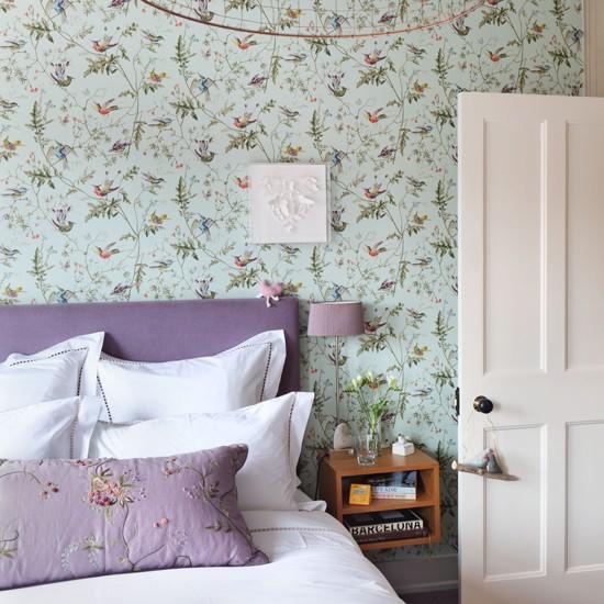 Green and purple country bedroom Bedroom designs housetohomecouk 550x550