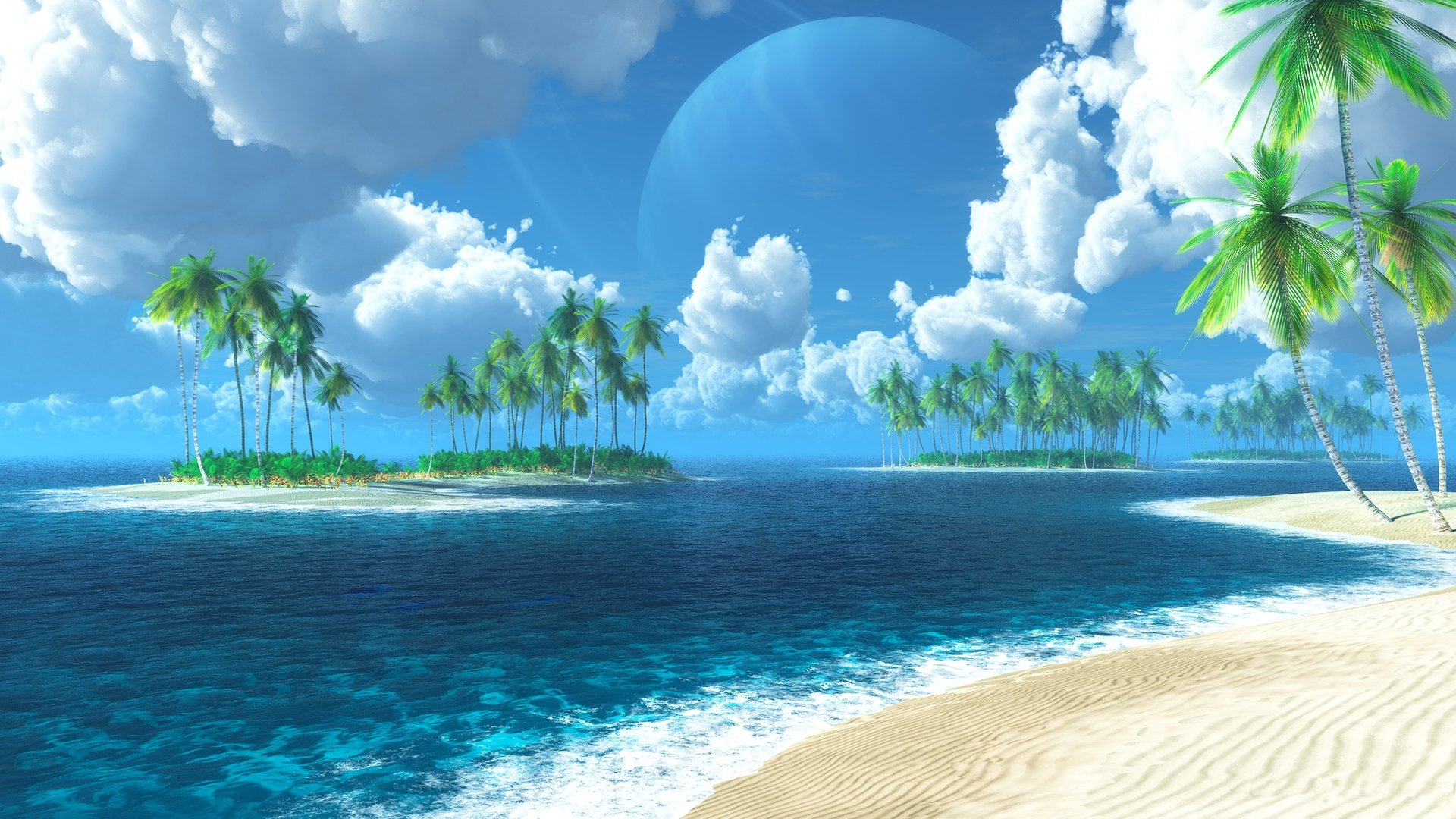 Exotic Ocean Island Wallpaper HD Desktop Wallpapers 1920x1080