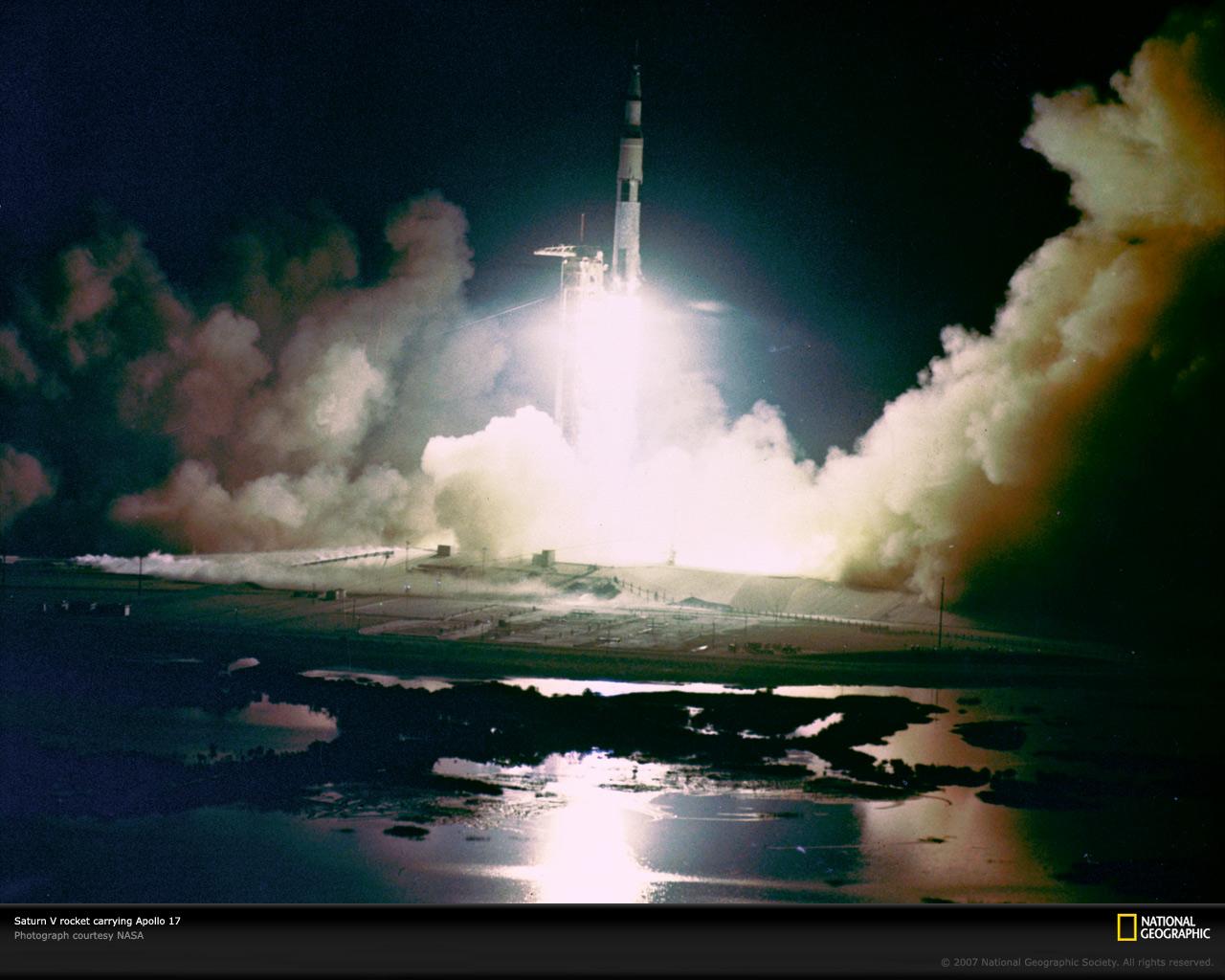 Apollo 17 Launch Picture Saturn V Rocket Wallpaper Download Photos 1280x1024