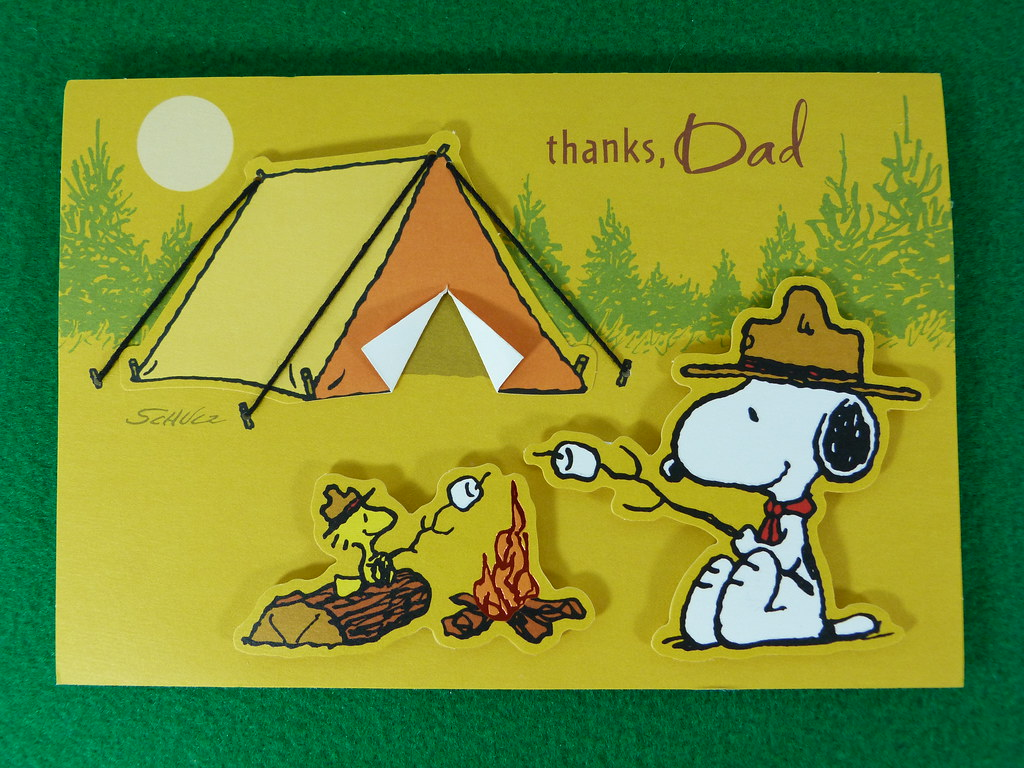 Snoopy Fathers Day Card Inside card You made me a happy Flickr 1024x768