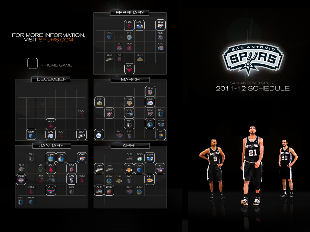 It is a photo of San Antonio Spurs Schedule Printable for loteria