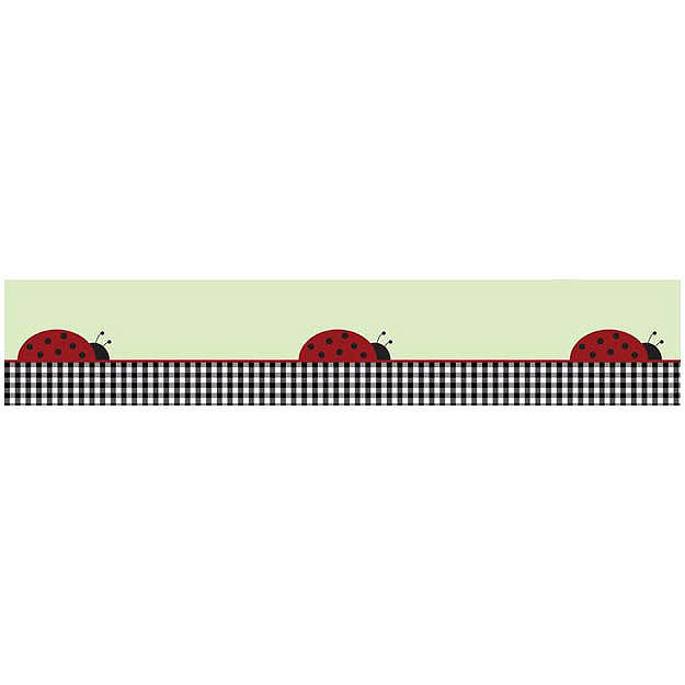 Discontinued Ladybug Parade Wallpaper Border 625x625