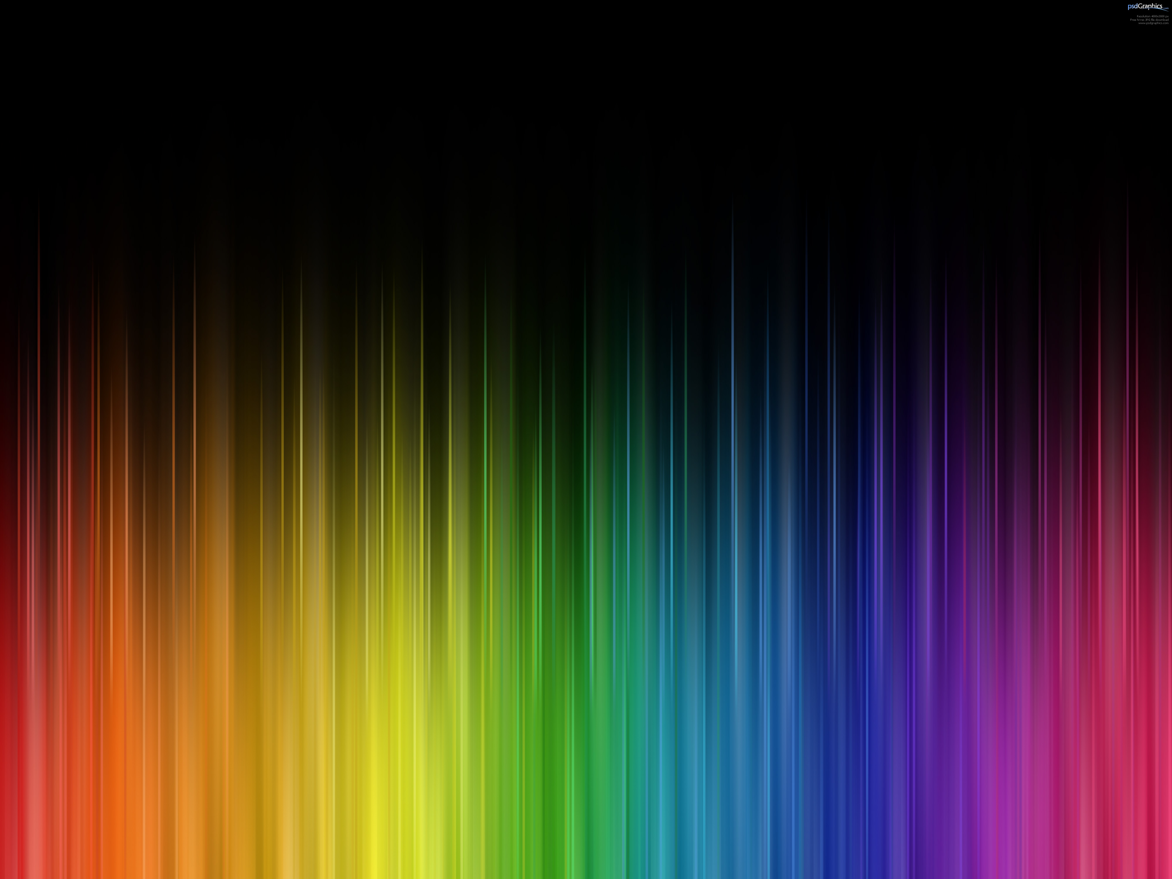 Abstract rainbow colors PSDGraphics 4000x3000