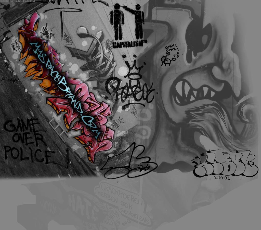 Gangsta Graffiti Wallpaper 1024x900