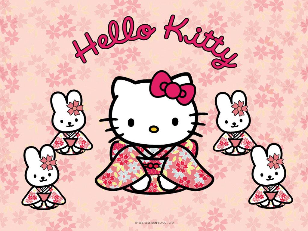 Free Download Cute Hello Kitty Hd Wallpaper 1024x768 Iwallhd