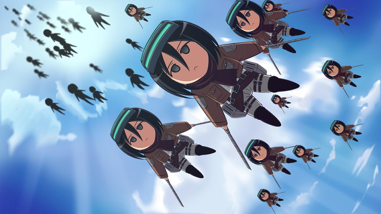 Free Download Attack On Titan Shingeki No Kyojin Mikasa Ackerman Anime Girl Chibi 1440x810 For Your Desktop Mobile Tablet Explore 46 Attack On Titan Chibi Wallpaper Cool Attack On