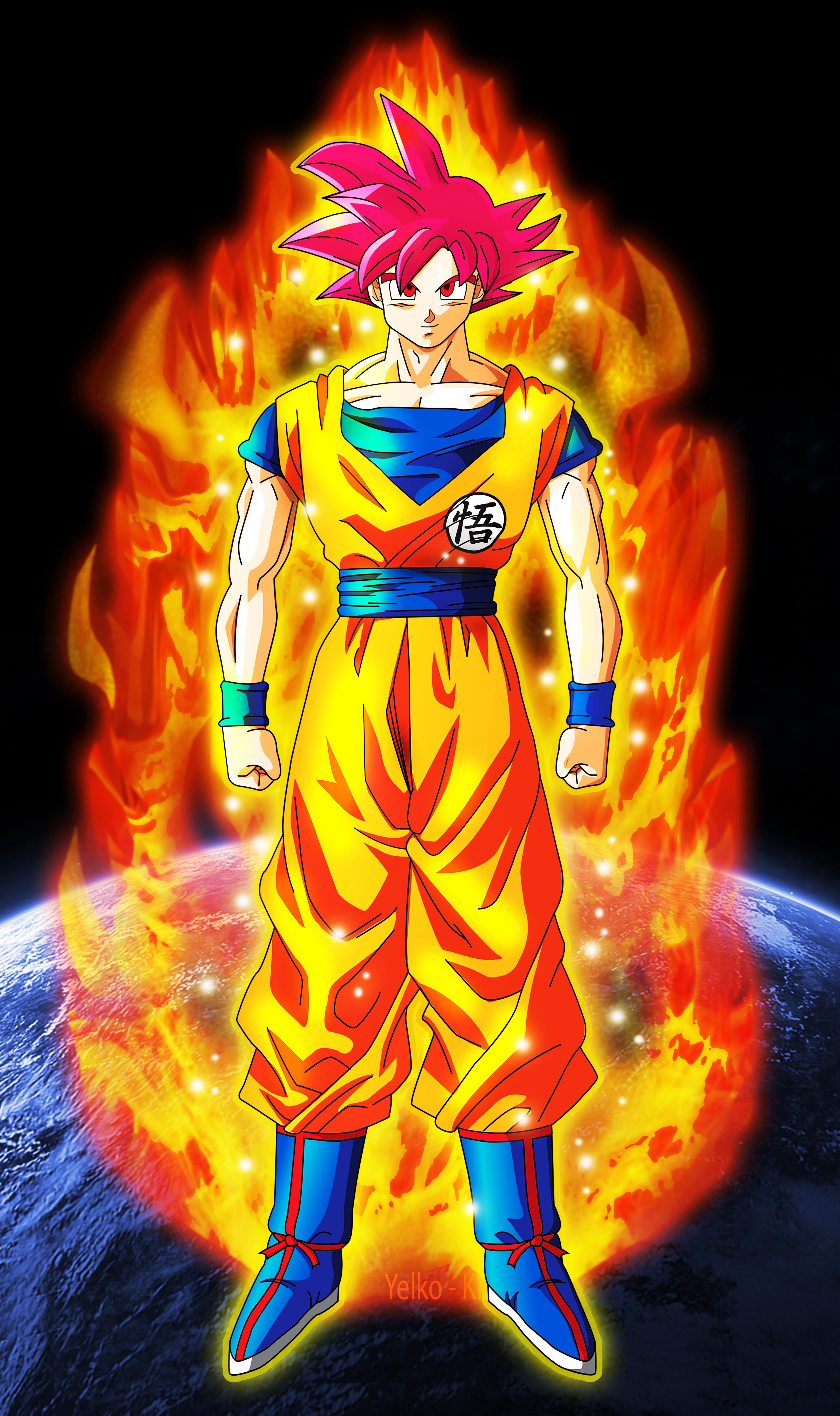 God Goku Wallpaper 4724x7962