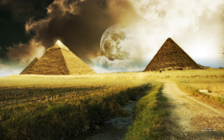 Pyramids landscape   egypt is a heaven Wallpaper 23788426 1440x900