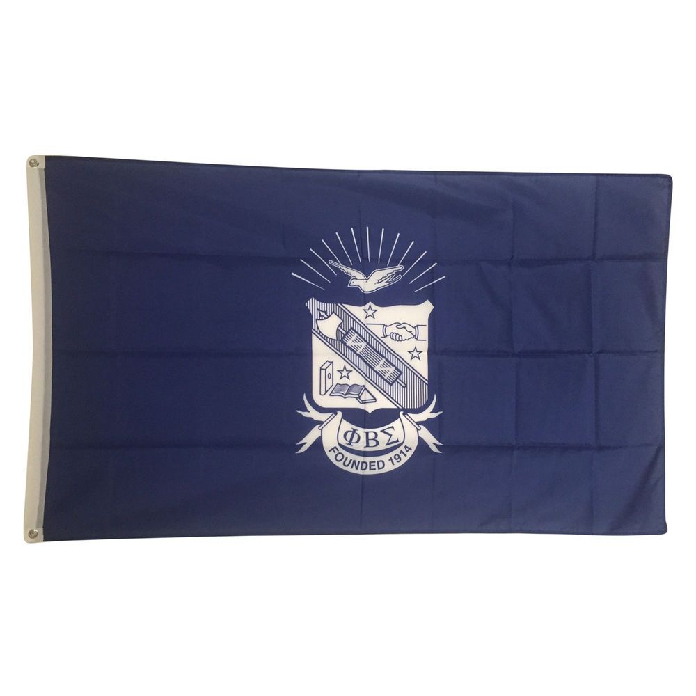 PHI Beta Sigma Blue Background Crest Flag 3 x 5 Licensed Product 1000x604