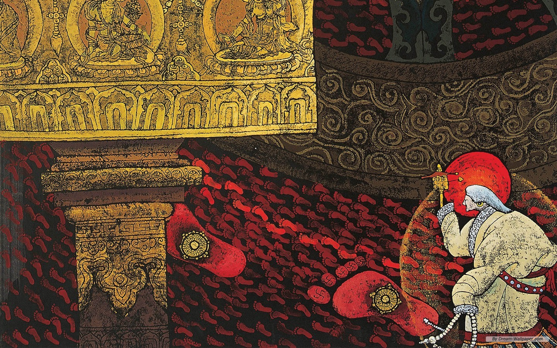 wallpaper   Tibetan Thangka Painting 1 wallpaper   1440x900 wallpaper 1440x900