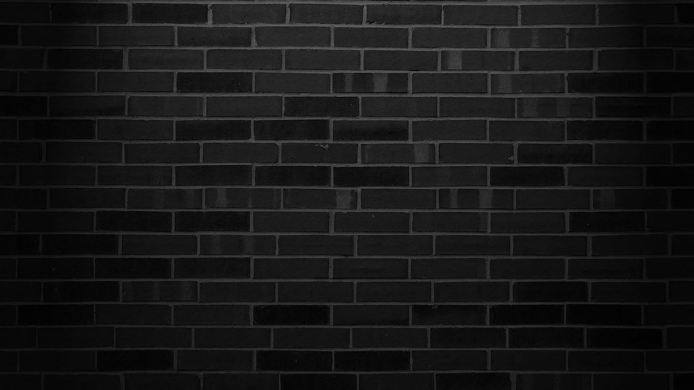 Black brick wall wallpaper 18482 1365x768