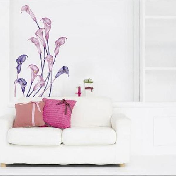 Calla Pattern Graffiti Removable Wallpaper Alex NLD 600x600