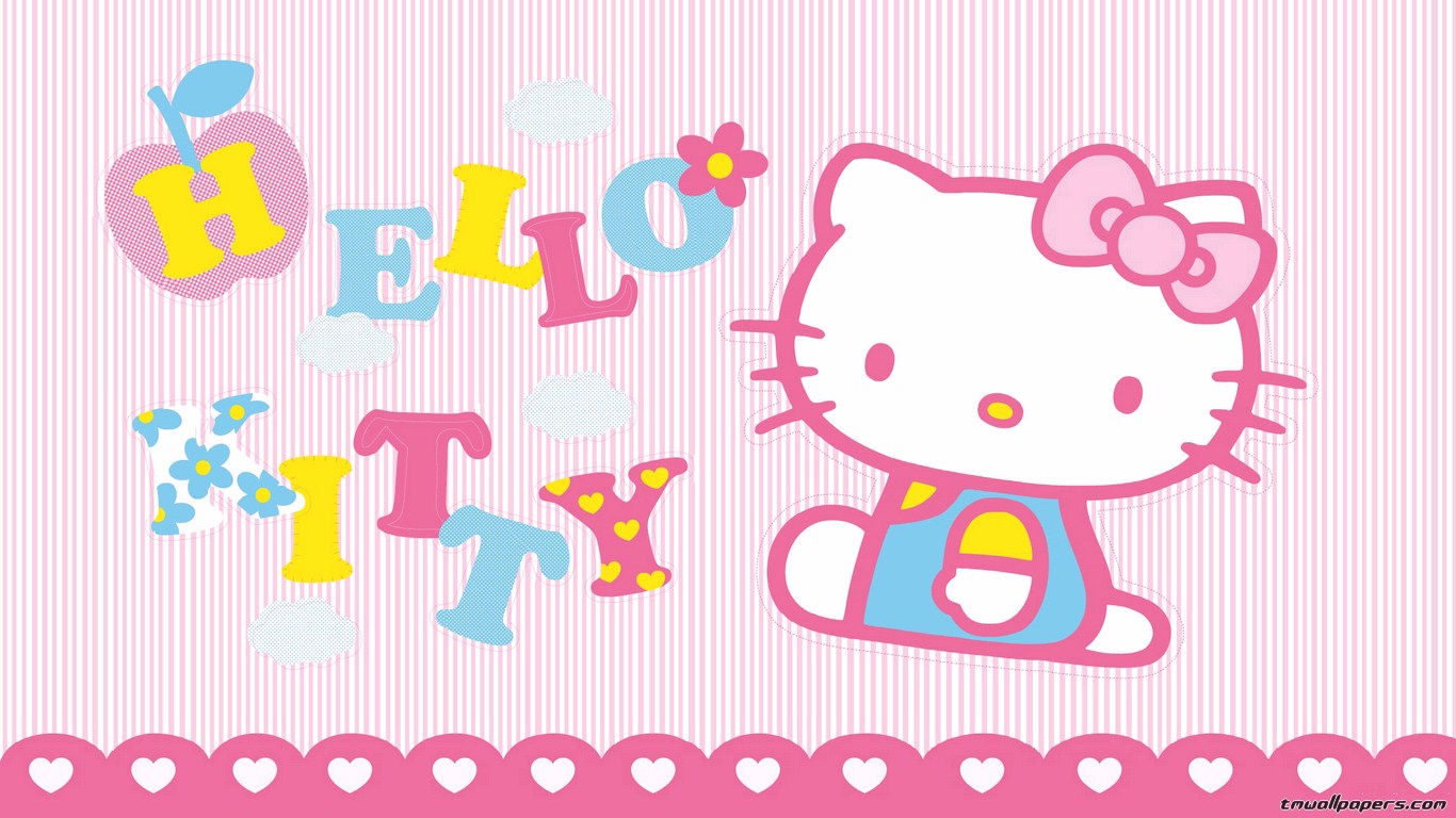 Hello Kitty Valentine 39 s Day Wallpaper 1366x768