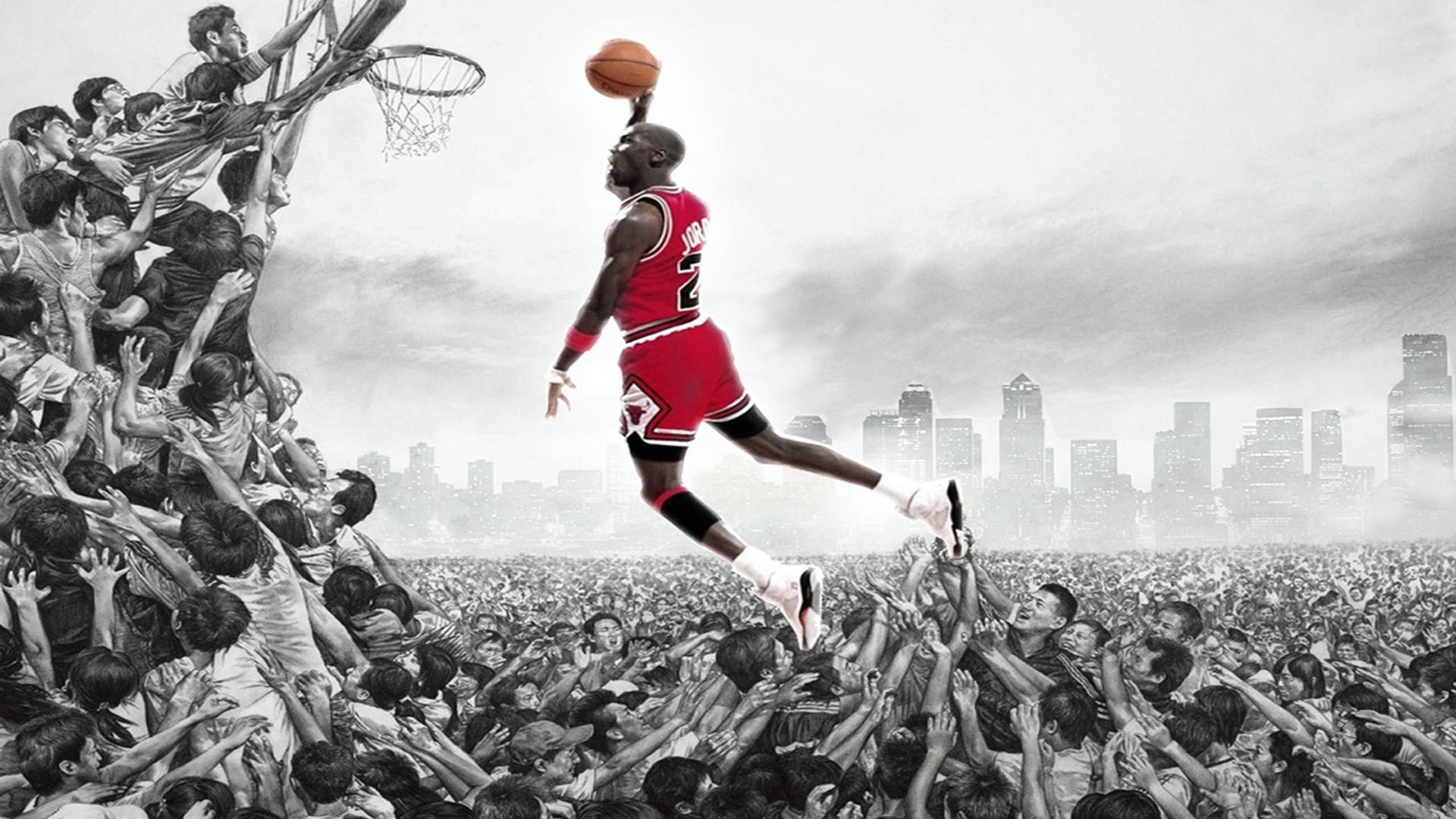 Michael Jordan Dunk HD Desktop Wallpaper HD Desktop Wallpaper 1920x1080
