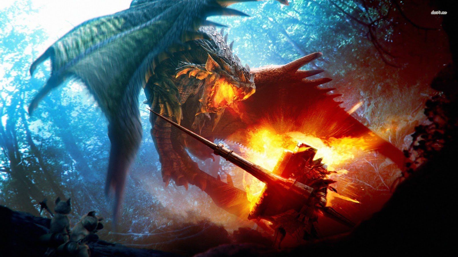 Dragon Battle Wallpapers Desktop Wallpapers 1600x900