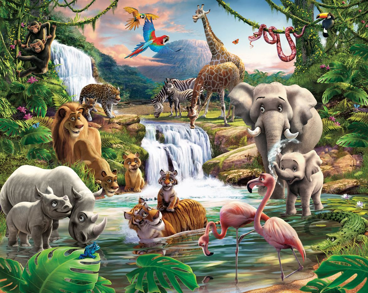 Free Download In The Jungle Wallpaper Mural 1173x932 For Your Desktop Mobile Tablet Explore 48 Jungle Wallpaper For Kids Rooms Wallpaper For Kids Room Jungle Wallpaper For Walls Jungle Theme Wallpaper