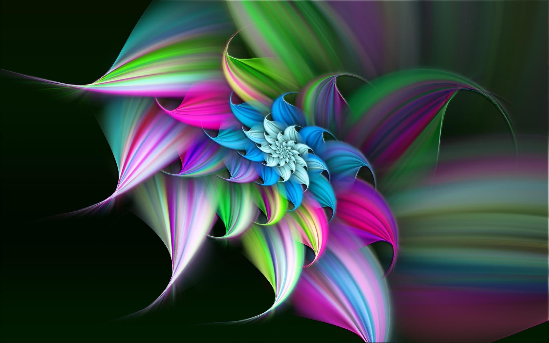 3D Flower 1920x1200