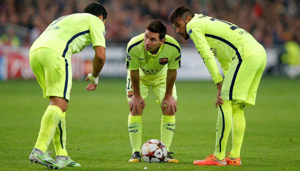 Messi Neymar Suarez Wallpaper 2015 Suarez messi and neymar in fc 1024x584
