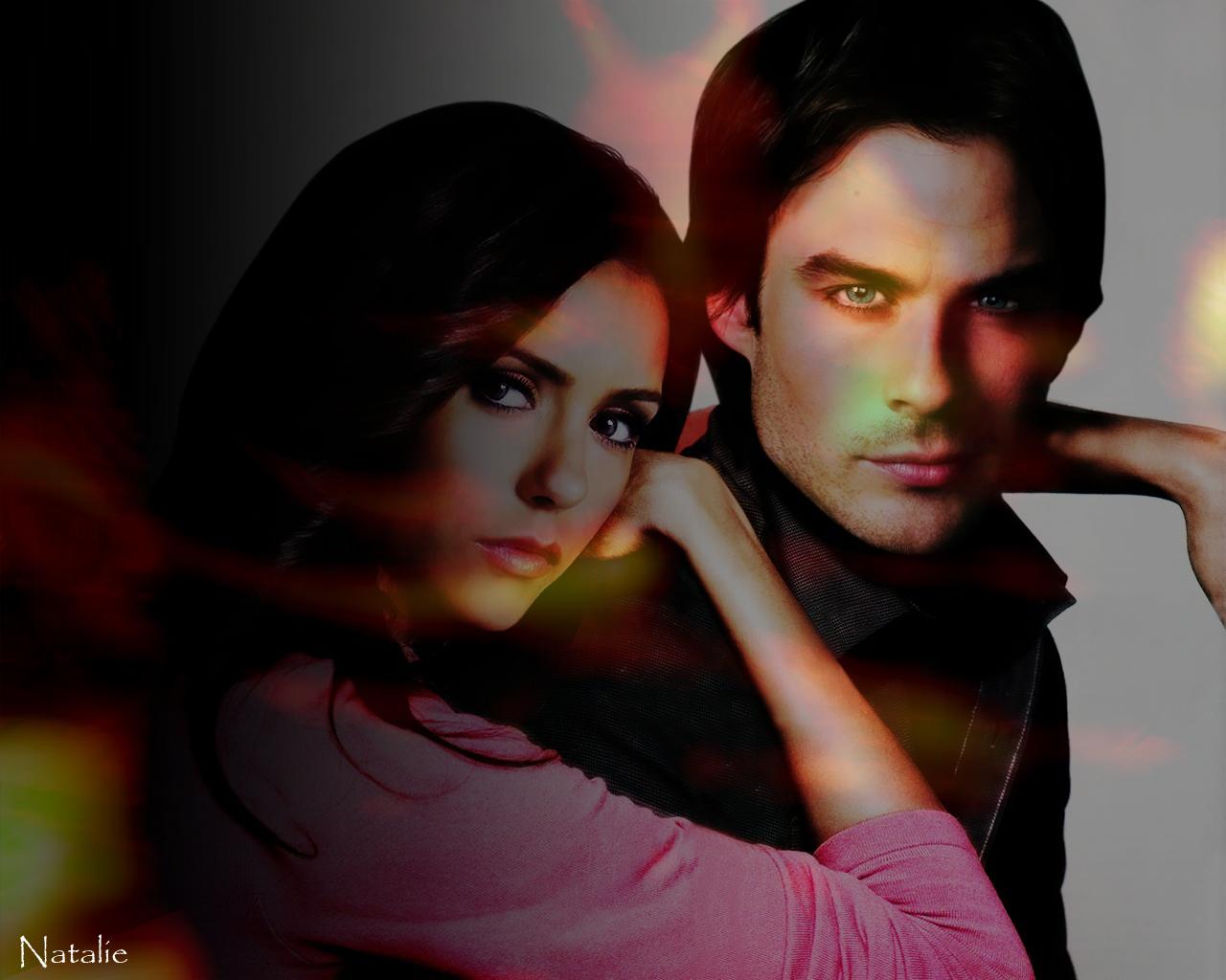 Elena Damon   The Vampire Diaries Wallpaper 17421706 1280x1024
