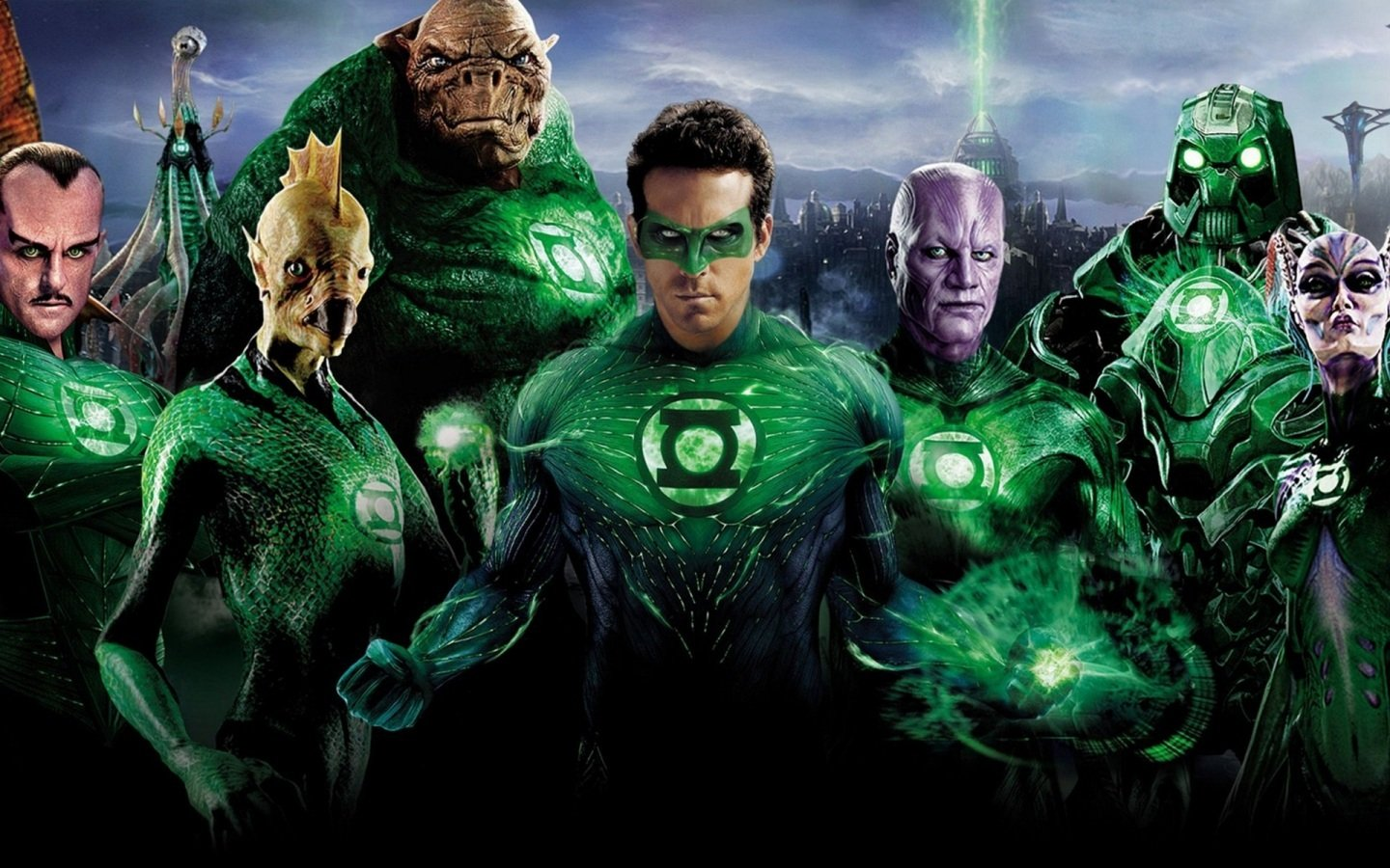New Green Lantern Movie Poster Wallpaper Hd For Desktop Background 1440x900